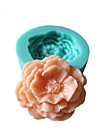 3D Peony Flowers Silicone Mold Fondant Molds Sugar Craft Tools Chocolate Mould  For Cakes