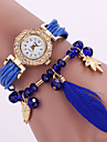 Mulheres Relogio de Moda Bracele Relogio Quartzo Estilo da coruja Couro Banda Flor Corujas Preta Branco Azul VermelhoBranco Preto
