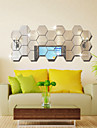 Decorative Wall Stickers - Mirror Wall Stickers Fashion / Fantasy / 3D Living Room / Bedroom / Dining Room / Washable / Removable
