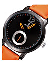SKONE Hommes Montre Bracelet Quartz Quartz Japonais Cuir Bande Noir Orange Marron Blanc Noir Orange Café Rouge