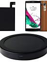 tapez-c qi chargeur sans fil de charge pad mat + autocollant recepteur avec nfc pour lg g4