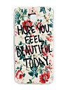 For Samsung Galaxy Case Embossed Case Back Cover Case Word / Phrase TPU Samsung J5 / Core Prime