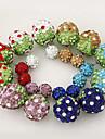 Stud Earrings Alloy Rhinestone Simulated Diamond Double Sided Purple Red Blue Light Blue Light Brown Jewelry 2pcs