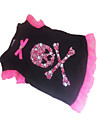 Dog Shirt / T-Shirt Dog Clothes Skulls Hearts Black Costume For Pets