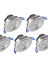 ywxlight® 5pcs 3w 300-350lm 지원 dimmable led 패널 조명 led 천장 조명