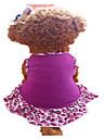 Собака Платья Одежда для собак Мода Губы Лиловый Костюм Для домашних животных