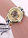 Жен. Модные часы Кварцевый Повседневные часы Материал Группа Черный Белый Красный Фиолетовый Хаки Кот
