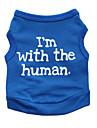 Кошка Собака Футболка Одежда для собак Цветочные / ботанический Черный Синий Хлопок Костюм Для домашних животных Муж. Жен. Мода