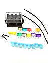 carro del coche de circuito de 4 vias iztoss estandar apara fusible hoja 24v 12v soporte del bloque de la caja con fusibles y herramientas