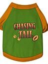 Gatos / Caes Camiseta Verde / Rosa / Azul Claro Roupas para Caes Verao / Primavera/Outono Floral / Botanico Da Moda
