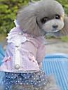Pas Haljine Odjeća za psa Dungi Mašna Crvena Pink Terilen Kostim Za Proljeće & Jesen Ljeto Žene Ležerno / za svaki dan Moda