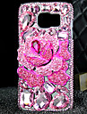 For Samsung Galaxy S7 Edge Rhinestone / Transparent Case Back Cover Case 3D Cartoon TPU Samsung S7 edge / S7
