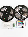 RGB ленты 600 светодиоды RGB Пульт управления Можно резать Диммируемая Водонепроницаемый Меняет цвета Самоклеющиеся Подсветка для авто DC