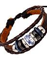 Homme Femme Cuir Bracelets en cuir Bracelets de rive - Marron Bracelet Pour Mariage Soiree Quotidien