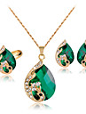 Lucky Doll Crystal / Alloy / Rhinestone / Rose Gold Plated Jewelry Set 3 pcs Party / Daily 1set