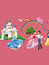 Fairy Tale World Snow White Prince Castle Wall Stickers DIY Children\'s Bedroom Wall Decals