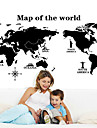 Decorative Wall Stickers - Map Wall Stickers Landscape / Still Life / Fashion Living Room / Bedroom / Dining Room / Removable