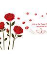 Натюрморт Романтика Мода Цветы ботанический Мультипликация Отдых Наклейки Простые наклейки Декоративные наклейки на стены Свадебные