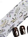 1pcs 100cmx4cm decoracoes imagem Pena de glitter nail foil etiqueta bonita do laco flor folha unhas diy beleza stzxk16-20