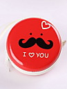 Mr.Beard Expression Pattern Round Change Purse(Random Color)