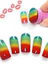 fichier ongles plaque d\'image art de timbre de estampage outil ongles 5pcs de clous (couleurs assorties)