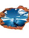 Мода Пейзаж Наклейки 3D наклейки Декоративные наклейки на стены материал Съемная Украшение дома Наклейка на стену