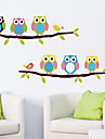Removable owl Wall Sticker Environmental PVC Children\'s kids Room Bedroom Wall Stickers