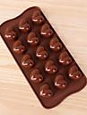 Moule de Cuisson Coeur Chocolat Tarte Petit gateau Gateau Silicone Economique La Saint Valentin Haute qualite