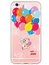 Назначение iPhone X iPhone 8 iPhone 6 iPhone 6 Plus Чехлы панели Ультратонкий С узором Задняя крышка Кейс для Воздушные шары Мягкий