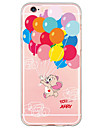 Pour iPhone X iPhone 8 iPhone 6 iPhone 6 Plus Etuis coque Ultrafine Motif Coque Arriere Coque Balloon Flexible PUT pour Apple iPhone X