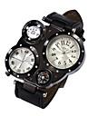 Мужской Армейские часы Нарядные часы Кварцевый Защита от влаги / Кожа Группа Повседневная Черный Синий Коричневый