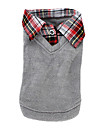 Dog Shirt / T-Shirt Sweater Dog Clothes Casual/Daily Fashion British Gray Costume For Pets