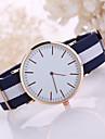 Men\'s Quartz Wrist Watch Casual Watch Fabric Band Dress Watch Minimalist Black White Blue Red