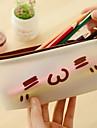 슈퍼 멩 표현 미니멀 한 반투명 젤리 텍스트 컬러 연필 학생 문구 연필 가방