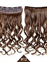 Искусственные волосы Наращивание волос Волнистый На клипсе Повседневные Высокое качество