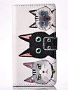Three Cats Painted Card Holder Wallet PU Leather Phone Case for Galaxy A3(2016)