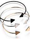 Жен. Браслет разомкнутое кольцо - Богемные Мода Геометрической формы Черный Серебряный Золотой Браслеты Назначение Новогодние подарки