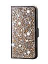 Para Samsung Galaxy Capinhas Com Strass Capinha Corpo Inteiro Capinha Brilho com Glitter Couro PU SamsungS6 edge plus / S6 edge / S6 / S5