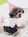 Собака Комбинезоны Одежда для собак Джинсы Белый Хлопок Костюм Для домашних животных Жен. ковбой / Мода