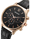 Men\'s Quartz Wrist Watch / Casual Watch Leather Band Dress Watch Fashion Cool Black