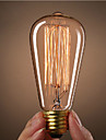 ST64 E27 40W Incandescent Vintage Edison Light Bulb For Restaurant Club Coffee Bars Light(220-240V)