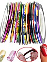 30 pcs Classic Foil Stripping Tape Nail Art Design Daily