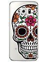 Case For Samsung Galaxy Samsung Galaxy S7 Edge Transparent Pattern Back Cover Skull Soft TPU for S7 edge S7 S6 edge plus S6 edge S6 S5 S4