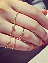 Set of 5 Gold Band Midi Ring Jewelry Set