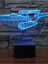 warship touch dimmer 3d llevo la luz de la noche 7colorful decoracion atmosfera lampara novedad iluminacion de la luz