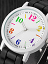 Women\'s Fashion Watch Casual Watch Quartz / Casual Watch Silicone Band Charm Black White Blue