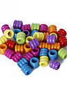 beadia сортированный цвет акриловые бусины 7x8mm трубки пластиковые свободные шарики (50 г / около 200шт)