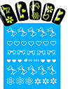 1pcs Nail Art Water Transfer Noctilucent Sticker Butterfly Heart Flower Decoration Nail Beauty DG-003