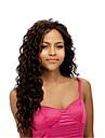 Femme Perruque Synthetique Long Frises Marron Partie laterale Perruque de carnaval Perruques sans bonnet Perruque Halloween Perruque