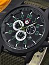 Муж. Наручные часы Армейские часы Кварцевый / Кожа Группа На каждый день Черный